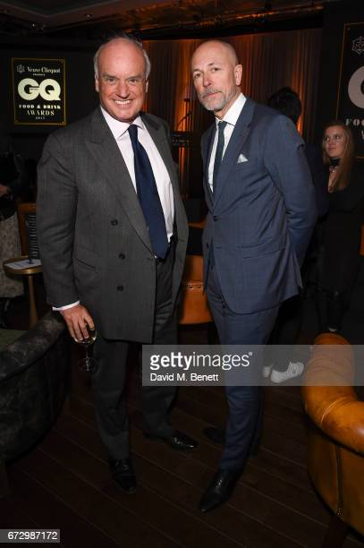 Nicolas Coleridge Dylan Jones attend the GQ Food Drink Awards at The Curtain on April 25 2017 in London England