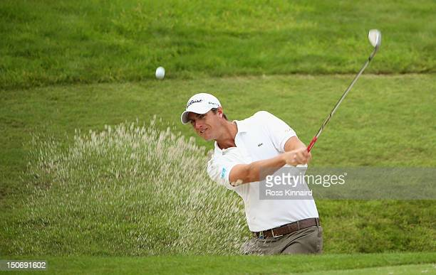 Nicolas Colsaerts of Belgium during the second round of the Johnnie Walker Championship on the PGA Centenary Course at Gleneagles on August 24 2012...