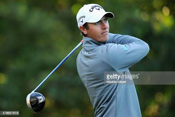 Nicolas Colsaerts of Belgium hits a tee shot on the 11th hole during the second round of the Valspar Championship at Innisbrook Resort and Golf Club...