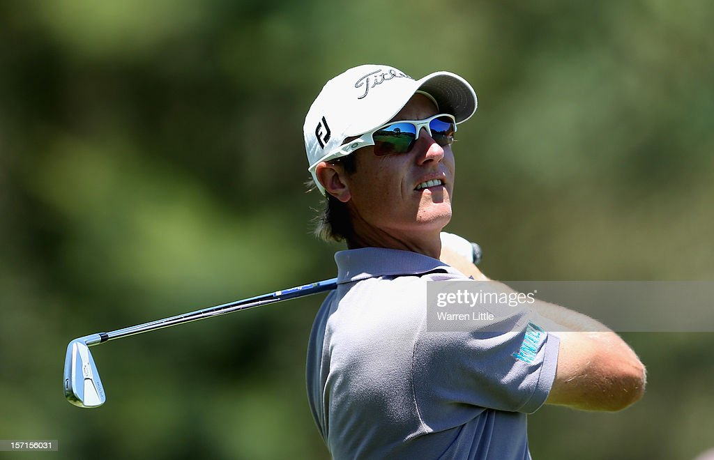 Nicolas Colsaerts of Belgium in action during the first round of the Nedbank Golf Challenge at the Gary Player Country Club on November 29, 2012 in Sun City, South Africa.