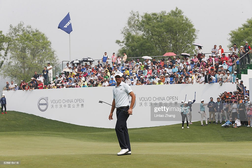 <a gi-track='captionPersonalityLinkClicked' href=/galleries/search?phrase=Nicolas+Colsaerts&family=editorial&specificpeople=216573 ng-click='$event.stopPropagation()'>Nicolas Colsaerts</a> of Belgium looks on after plays a shot during the final round of the Volvo China open at Topwin Golf and Country Club on May 1, 2016 in Beijing, China.
