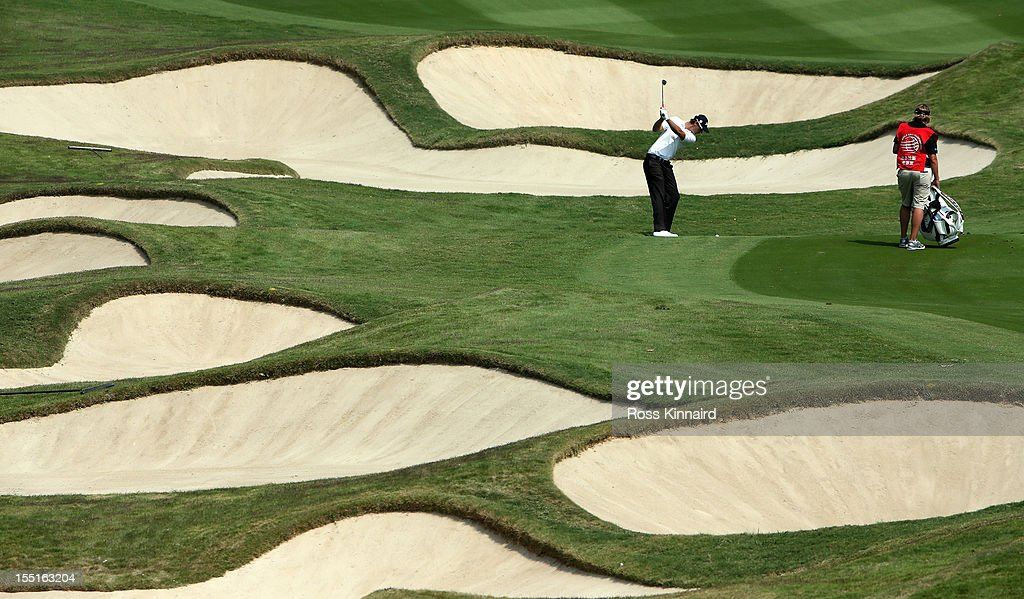 <a gi-track='captionPersonalityLinkClicked' href=/galleries/search?phrase=Nicolas+Colsaerts&family=editorial&specificpeople=216573 ng-click='$event.stopPropagation()'>Nicolas Colsaerts</a> of Belgium on the 10th hole during the second round of the WGC HSBC Champions at the Mission Hills Resort on November 2, 2012 in Shenzhen, China.
