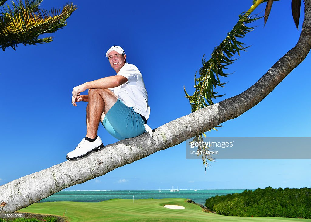 Nicolas Colsaerts of Belgium poses for a picture prior to the start of AfrAsia Bank Mauritius Open at Four Seasons Golf Club Mauritius at Anahita on...