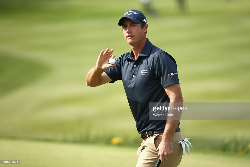 <a gi-track='captionPersonalityLinkClicked' href=/galleries/search?phrase=Nicolas+Colsaerts&family=editorial&specificpeople=216573 ng-click='$event.stopPropagation()'>Nicolas Colsaerts</a> of Belgium salutes the crowd on the 18th hole during day four of the BMW PGA Championship at Wentworth on May 29, 2016 in Virginia Water, England.