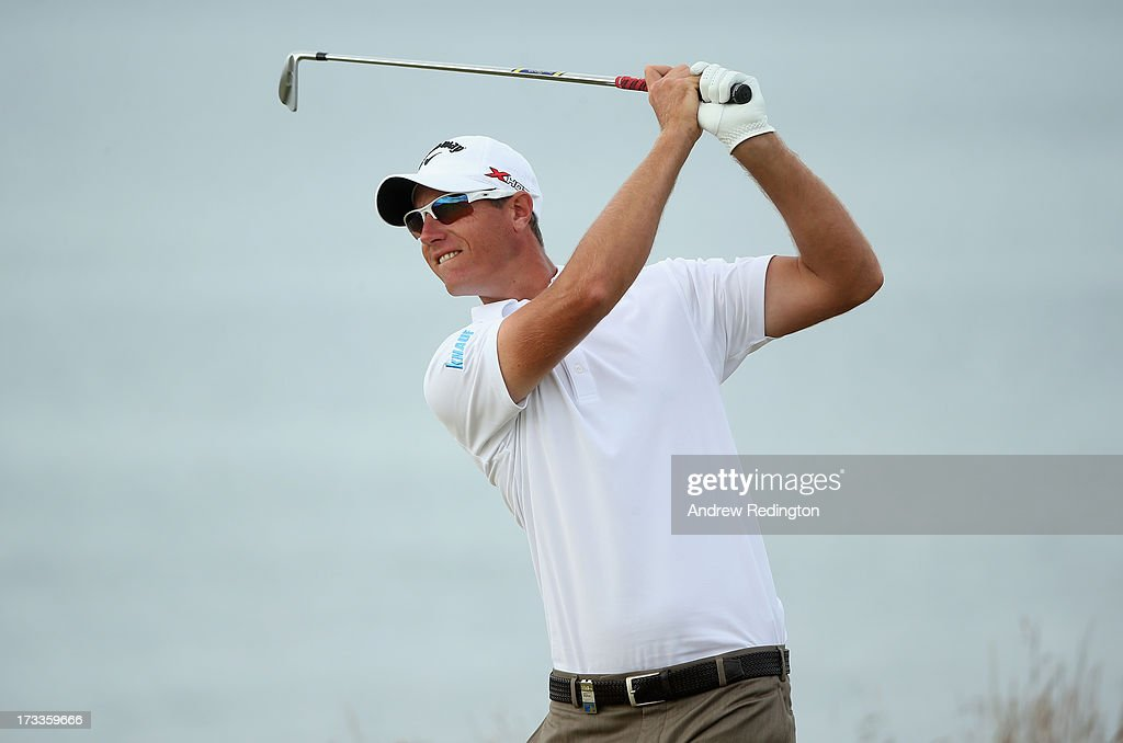 <a gi-track='captionPersonalityLinkClicked' href=/galleries/search?phrase=Nicolas+Colsaerts&family=editorial&specificpeople=216573 ng-click='$event.stopPropagation()'>Nicolas Colsaerts</a> of Belgium tees off during the second round of the Aberdeen Asset Management Scottish Open at Castle Stuart Golf Links on July 12, 2013 in Inverness, Scotland.