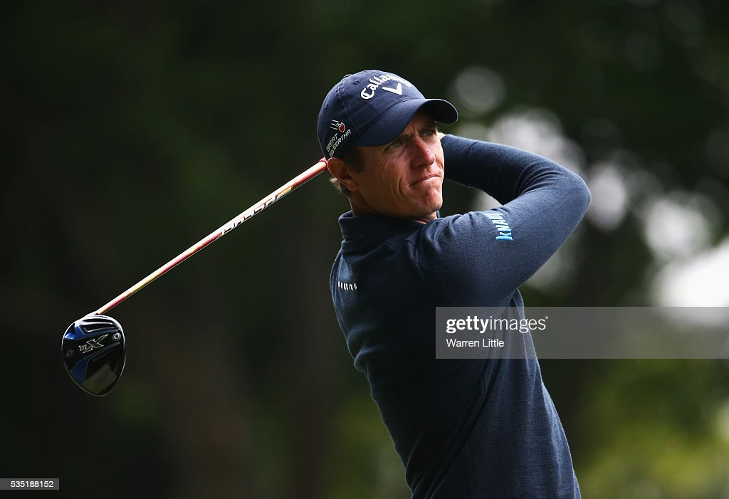 <a gi-track='captionPersonalityLinkClicked' href=/galleries/search?phrase=Nicolas+Colsaerts&family=editorial&specificpeople=216573 ng-click='$event.stopPropagation()'>Nicolas Colsaerts</a> of Belgium tees off on the 3rd hole during day four of the BMW PGA Championship at Wentworth on May 29, 2016 in Virginia Water, England.