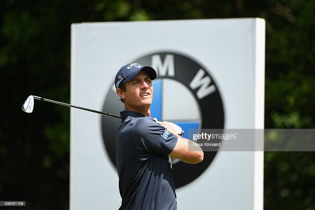<a gi-track='captionPersonalityLinkClicked' href=/galleries/search?phrase=Nicolas+Colsaerts&family=editorial&specificpeople=216573 ng-click='$event.stopPropagation()'>Nicolas Colsaerts</a> of Belgium tees off on the 5th hole during day four of the BMW PGA Championship at Wentworth on May 29, 2016 in Virginia Water, England.