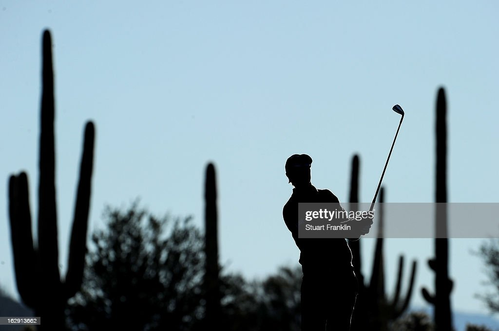 <a gi-track='captionPersonalityLinkClicked' href=/galleries/search?phrase=Nicolas+Colsaerts&family=editorial&specificpeople=216573 ng-click='$event.stopPropagation()'>Nicolas Colsaerts</a> of Belgium watches his shot on the first hole during the third round of the World Golf Championships - Accenture Match Play at the Golf Club at Dove Mountain on February 23, 2013 in Marana, Arizona.