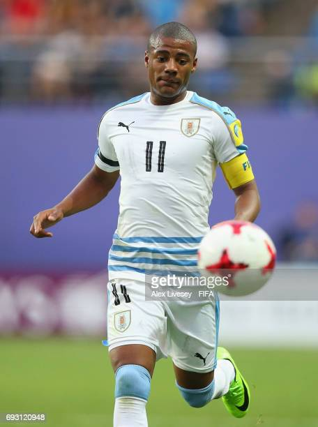 Nicolas de la Cruz of Uruguay during the FIFA U20 World Cup Korea Republic 2017 Quarter Final match between Portugal and Uruguay at Daejeon World Cup...