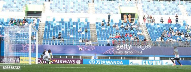 Nicolas de la Cruz of Uruguay scores his teams first goal during the FIFA U20 World Cup Korea Republic 2017 Semi Final match between Uruguay and...