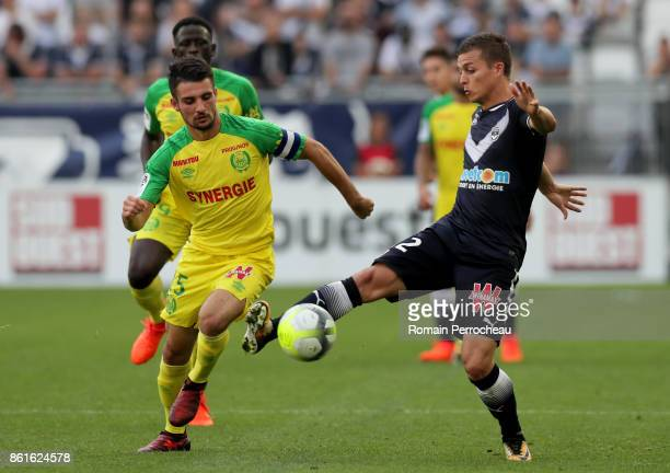 Nicolas de Preville of Bordeaux in action during the Ligue 1 match between FC Girondins de Bordeaux and FC Nantes at Stade Matmut Atlantique on...