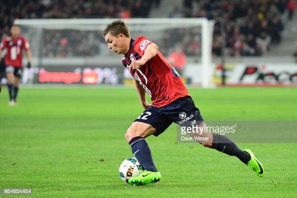 Nicolas De Preville of Lille during the Ligue 1 match between Lille OSC and Olympique de Marseille at Stade Pierre Mauroy on March 17 2017 in Lille...