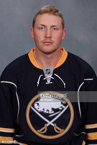 Nicolas Deslauriers of the Buffalo Sabres poses for his official headshot of the 20162017 season on September 22 2016 at the KeyBank Center in...