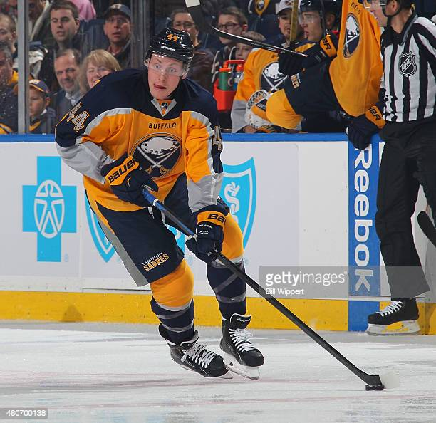 Nicolas Deslauriers of the Buffalo Sabres skates against the Florida Panthers on December 13 2014 at the First Niagara Center in Buffalo New York