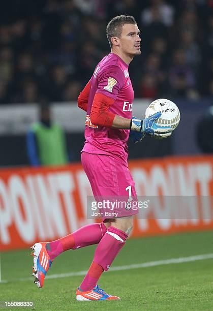 Nicolas Douchez of Paris Saint Germain in action during the french eightfinals League Cup match between Paris Saint Germain PSG and Olympique de...