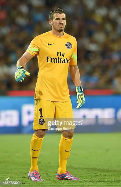 Nicolas Douchez of Paris Saint Germain in action during the preseason friendly match between SSC Napoli and Paris SaintGermain FC at Stadio San Paolo...