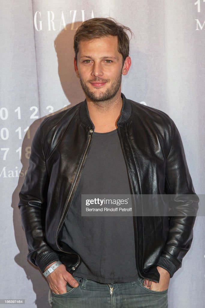 Nicolas Duvauchelle attends the Maison Martin Margiela for H&M collection launch at H&M Champs Elysees on November 14, 2012 in Paris, France.