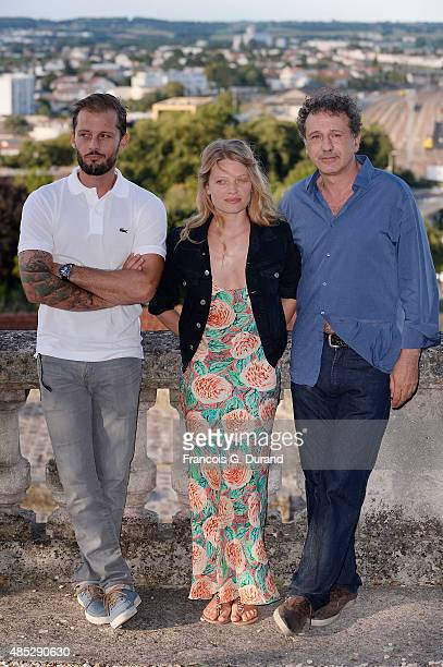 Nicolas Duvauchelle Melanie Thierry and Emmanuel Finkiel pose at a photocall for the movie 'Je Ne Suis Pas Un Salaud' during the 8th Angouleme...