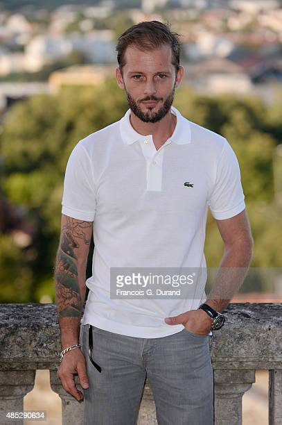 Nicolas Duvauchelle poses at a photocall for the movie 'Je Ne Suis Pas Un Salaud' during the 8th Angouleme FrenchSpeaking Film Festival on August 26...