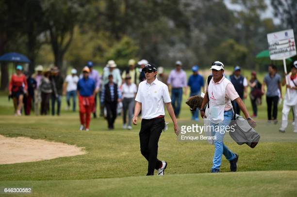 Nicolas Echavarria of Colombia walks up to the seventh hole during the final round of the PGA TOUR Latinoamerica 70 Avianca Colombia Open at Club...