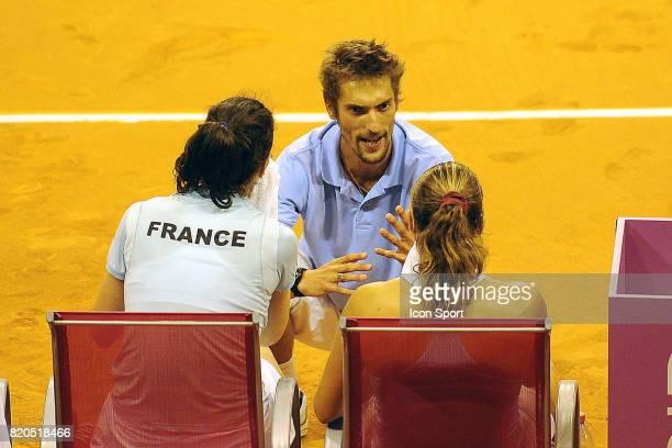 Nicolas ESCUDE / Nathalie DECHY / Amelie MAURESMO France / Slovaquie Fed Cup Limoges