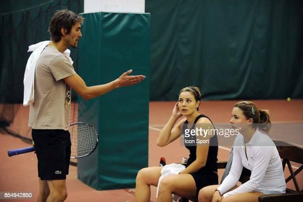 Nicolas ESCUDE / Sandrine BREMOND / Alizee CORNET Entrainement Fed Cup