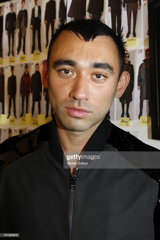 Nicolas Formichetti backstage before the Mugler Menswear Autumn/Winter 2013 show as part of Paris Fashion Week at Passage du Desir - BETC on January 18, 2012 in Paris, France.
