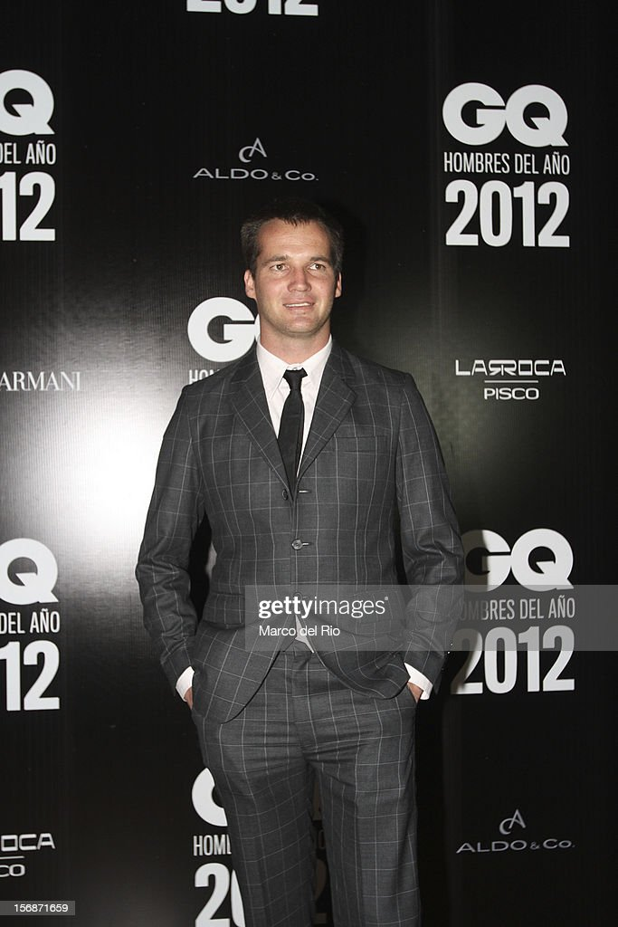 Nicolas Fuchs poses during the awards ceremony GQ Men of the Year 2012 at La Huaca Pucllana on November 23, 2012 in Lima, Peru.