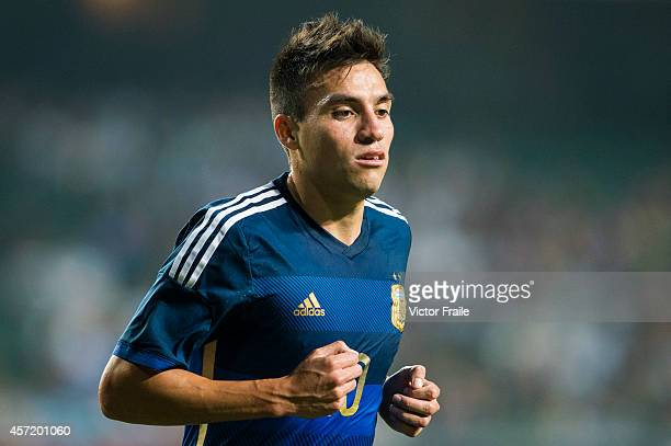 Nicolas Gaitan of Argentina during the International Friendly Match between Hong Kong and Argentina at the Hong Kong Stadium on October 14 2014 in...