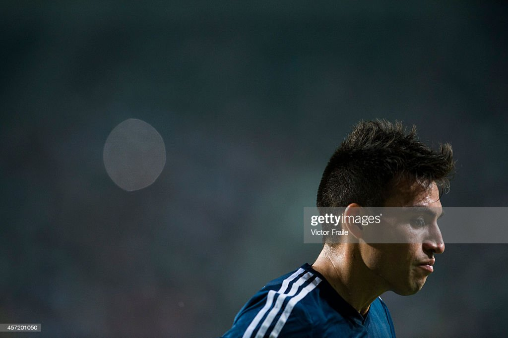 <a gi-track='captionPersonalityLinkClicked' href=/galleries/search?phrase=Nicolas+Gaitan&family=editorial&specificpeople=5538639 ng-click='$event.stopPropagation()'>Nicolas Gaitan</a> of Argentina reacts during the International Friendly Match between Hong Kong and Argentina at the Hong Kong Stadium on October 14, 2014 in Hong Kong, Hong Kong.