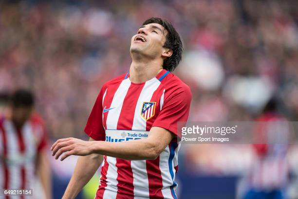 Nicolas Gaitan of Atletico de Madrid during the match Atletico de Madrid vs Valencia CF a La Liga match at the Estadio Vicente Calderon on 05 March...
