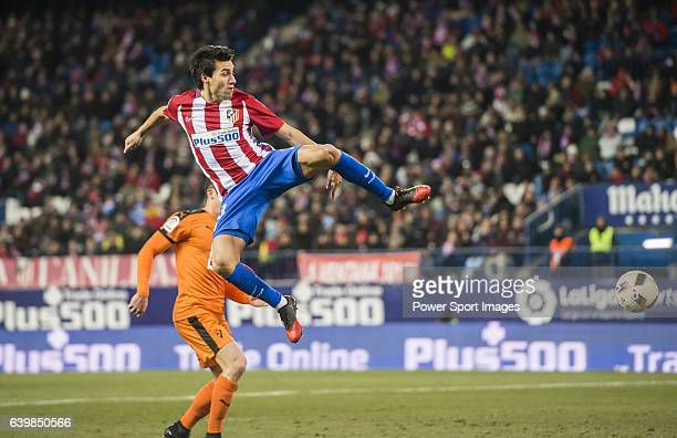 Nicolas Gaitan of Atletico de Madrid in action during their Copa del Rey 201617 Quarterfinal match between Atletico de Madrid and SD Eibar at the...