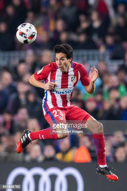 Nicolas Gaitan of Atletico de Madrid in action during their Copa del Rey 201617 Semifinal match between FC Barcelona and Atletico de Madrid at the...