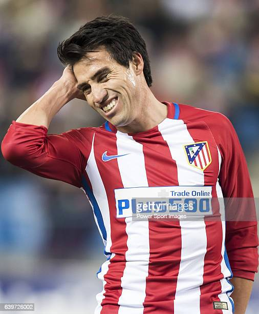 Nicolas Gaitan of Atletico de Madrid reacts during their Copa del Rey 201617 Round of 16 match between Atletico de Madrid and UD Las Palmas at the...