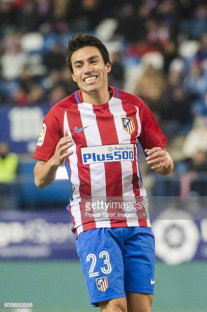 Nicolas Gaitan of Atletico de Madrid reacts during their Copa del Rey 201617 Quarterfinal match between Atletico de Madrid and SD Eibar at the...