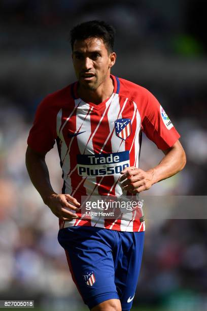 Nicolas Gaitan of Atletico Madrid in action during a Pre Season Friendly between Brighton Hove Albion and Atletico Madrid at Amex Stadium on August 6...