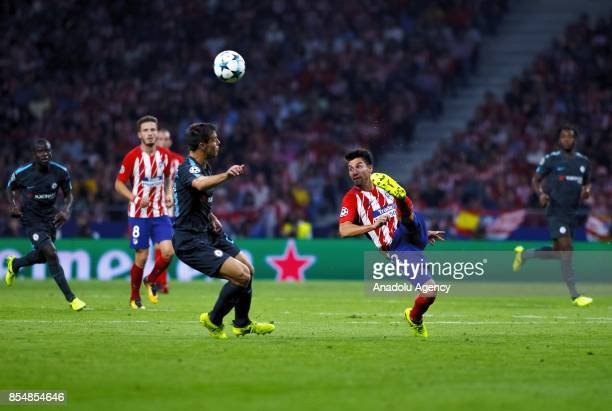 Nicolas Gaitan of Chelsea FC in action during the UEFA Champions League Group C match between Atletico Madrid and Chelsea FC at Wanda Metropolitano...