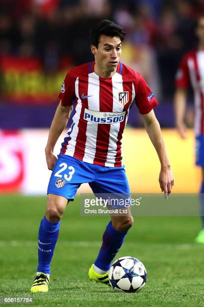 Nicolas Gaitan of Club Atletico de Madrid in action during the UEFA Champions League Round of 16 second leg match between Club Atletico de Madrid and...