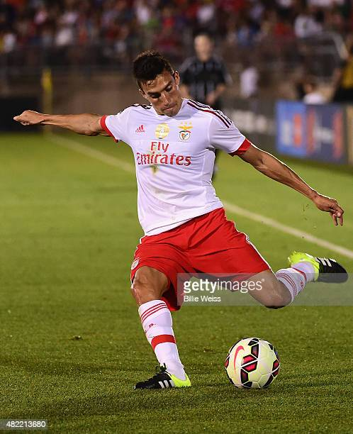Nicolas Gaitan of SL Benfica in action during an International Champions Cup 2015 match against ACF Fiorentina at Rentschler Field on July 24 2015 in...