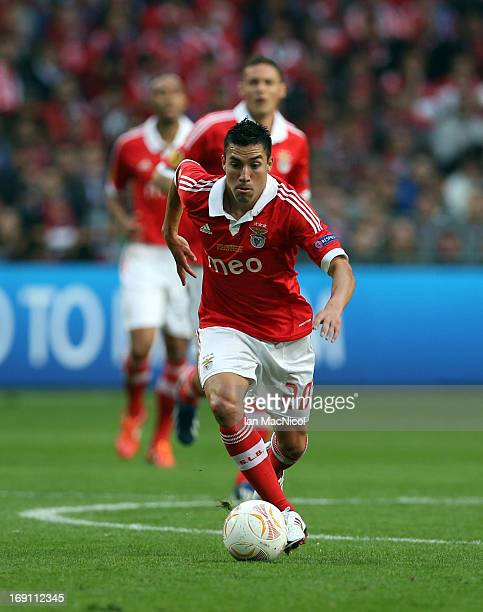Nicolas Gaitan of SL Benfica in action during the Europa League Final match between Chelsea and SL Benfica at The Amsterdam Arena on May 15 2013 in...