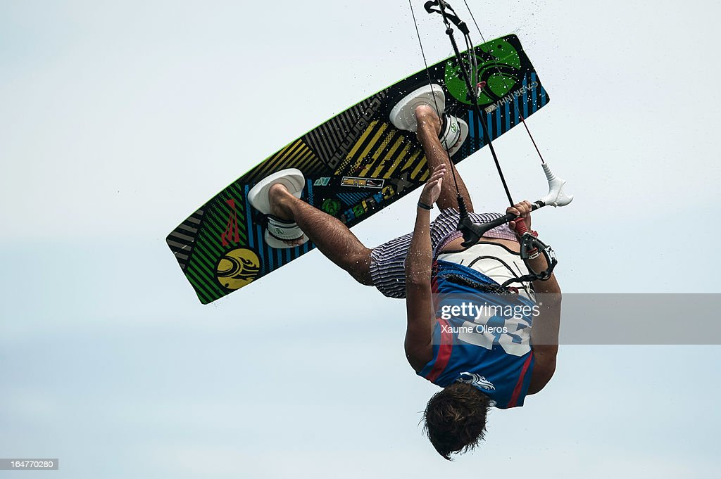 Nicolas Gambier of France competes on freestyle during day two of the KTA at Boracay Island on March 27, 2013 in Makati, Philippines.
