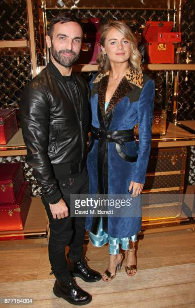 Nicolas Ghesquiere and Cressida Bonas attend Louis Vuittons Celebration of GingerNutz in Vogue's December Issue on November 21 2017 in London England