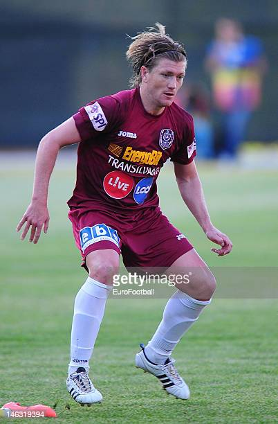 Nicolas Godemeche of CFR 1907 Cluj in action during the Romanian Liga 1 match between CFR 1907 Cluj and FC Steaua Bucuresti held on May 20 2012 at...