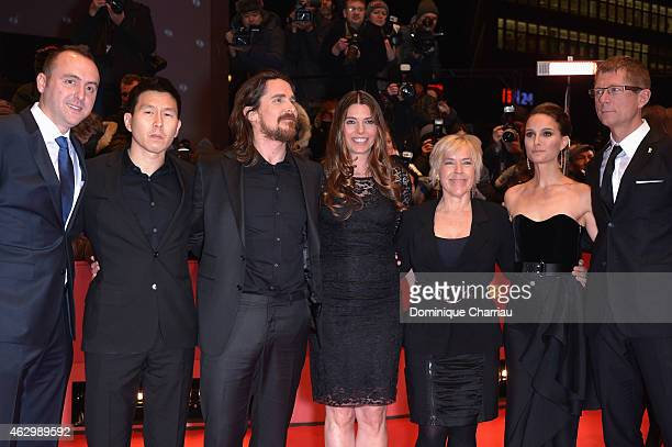 Nicolas Gonda Ken Kao Christian Bale Sibi Blazic Sarah Green Natalie Portman and guest attends the 'Knight of Cups' premiere during the 65th...