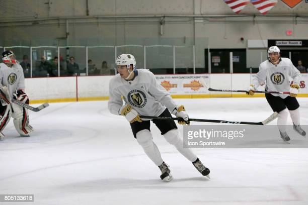 Nicolas Hague looks on during the Vegas Golden Knights Development Camp at the Las Vegas Ice Center on June 30 2017 in Las Vegas Nevada