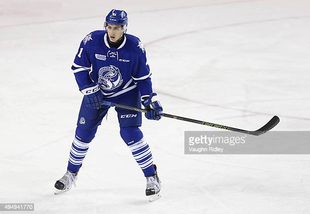 Nicolas Hague of the Mississauga Steelheads skates during an OHL game against the Niagara IceDogs at the Meridian Centre on October 29 2015 in St...