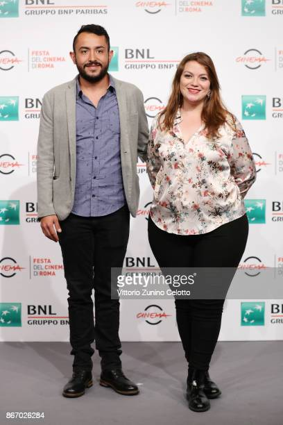 Nicolas Herreno Leal and Natalia Aguledo Campillo attend 'Nadie Nos Mira ' photocall during the 12th Rome Film Fest at Auditorium Parco Della Musica...