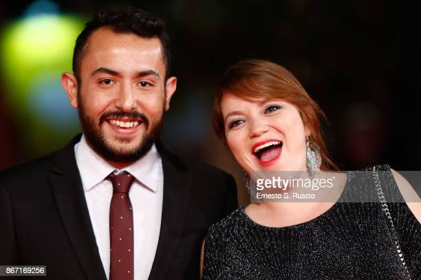 Nicolas Herreno Leal and Natalia Aguledo Campillo walk a red carpet for 'Nadie Nos Mira ' during the 12th Rome Film Fest at Auditorium Parco Della...