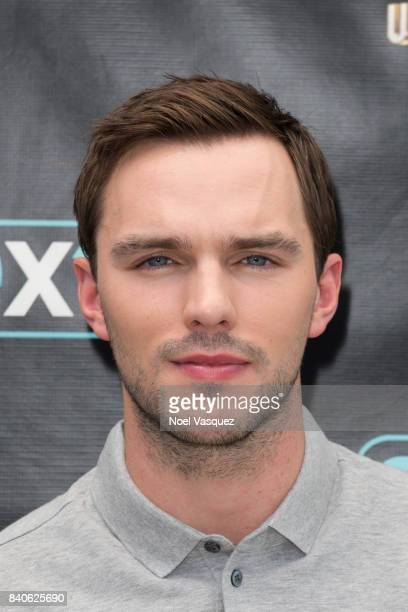 Nicolas Hoult visits 'Extra' at Universal Studios Hollywood on August 29 2017 in Universal City California
