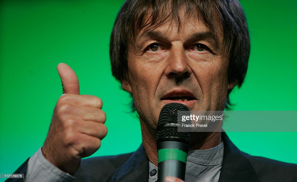 <a gi-track='captionPersonalityLinkClicked' href=/galleries/search?phrase=Nicolas+Hulot&family=editorial&specificpeople=2372364 ng-click='$event.stopPropagation()'>Nicolas Hulot</a>, a prominent French campaigner for environmental causes and TV personality announces his candidacy for the upcoming French presidential elections on April 13, 2011 in Sevran, North of Paris, France. The presidential elections are scheduled to be held in May 2012.